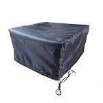 """Fire Table 56x36"""" Cover - Charcoal Gray - Shield Gold"""