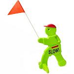 Step2 Kid Alert Visual Warning Signal Children at Play Safety Sign, Neon Green by VM Express