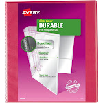 Avery 220 Sheet 1 Ring Binder Solid Coral (Pink)