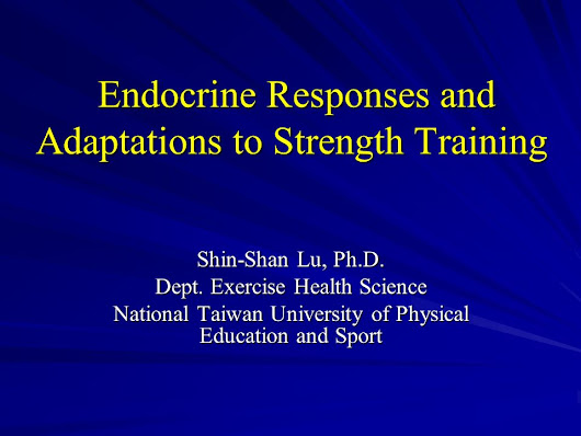 Endocrine Responses and Adaptations to Strength Training - ppt video online download