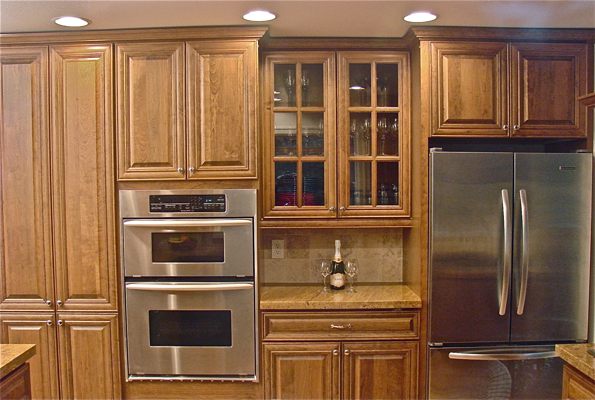 Newest 35 Kitchen Cabinet Colors Wood Stain