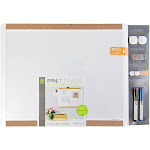 U Brands Pin-It Magnetic White Dry Erase Board Essentials Value Pack