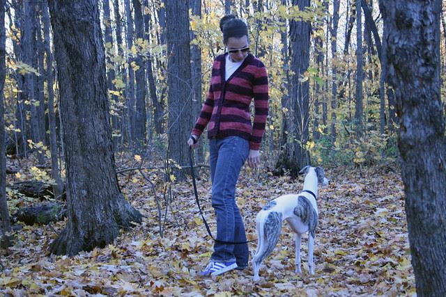 Tripping on Stella's leash