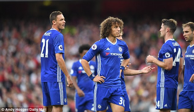 David Luiz sums up the mood in the Chelsea defence that were all over the place at Arsenal