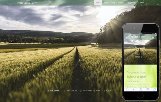 Vegetable Farm An Agriculture Category Flat bootstrap Responsive Web Template
