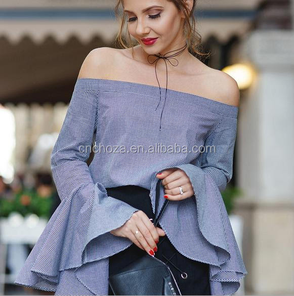 Saree Latest Off Shoulder Blouse Design