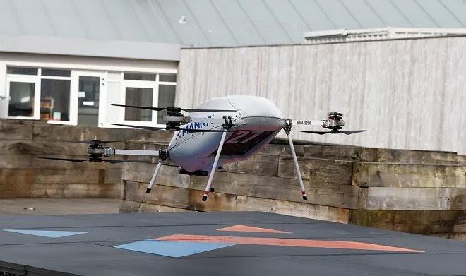 Samsung запускает доставку смартфонов с помощью дронов – но пока только в Ирландии