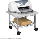 Safco 5206GR Underdesk Printer/Fax Stand, Gray