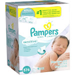 Pampers Baby Wipes, Sensitive - 576 count