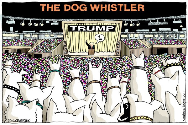 Image result for dog whistle politics cartoon