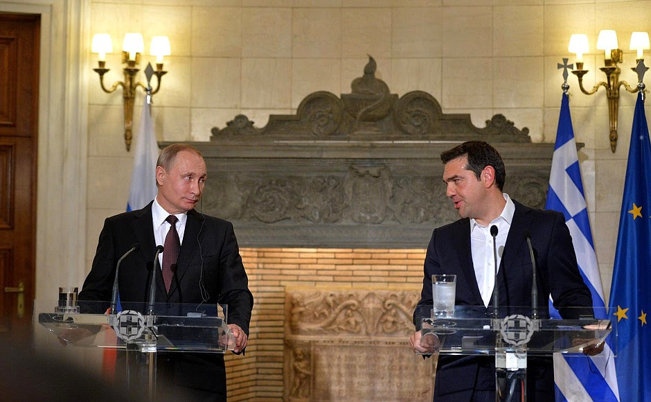 Joint press conference with Prime Minister of Greece Alexis Tsipras.