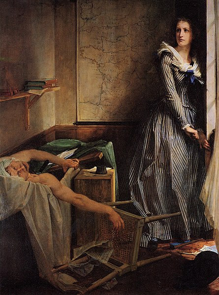 Painting of Charlotte Corday by Paul-Jacques-Aimé Baudry, 1860