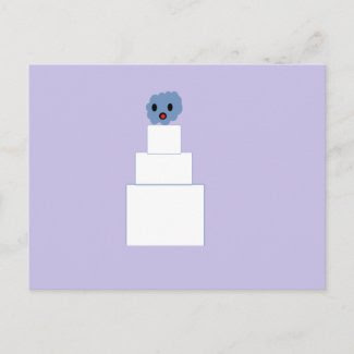 Zombie Wedding Cake postcard