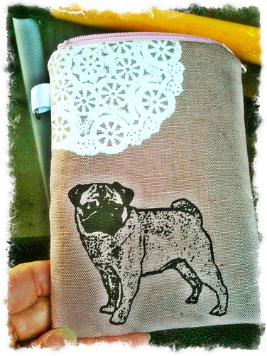 pug iphone pouch