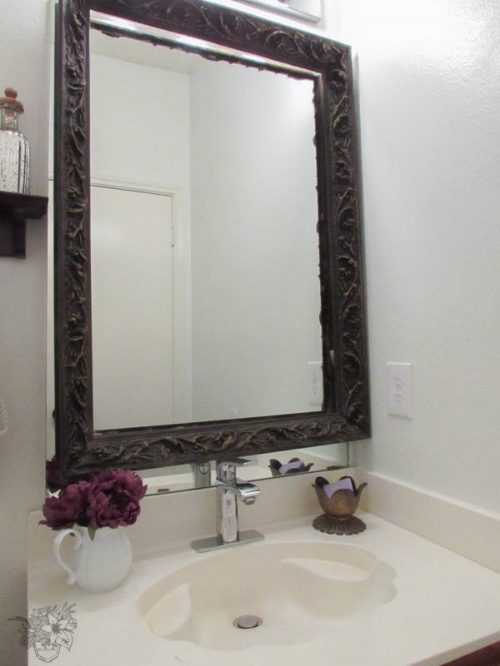 quick and easy frameless mirror upgrade