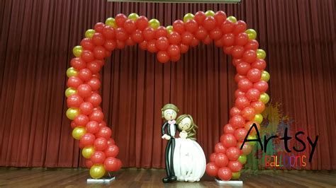 heart shaped arch ? Singapore Balloon Decoration Services