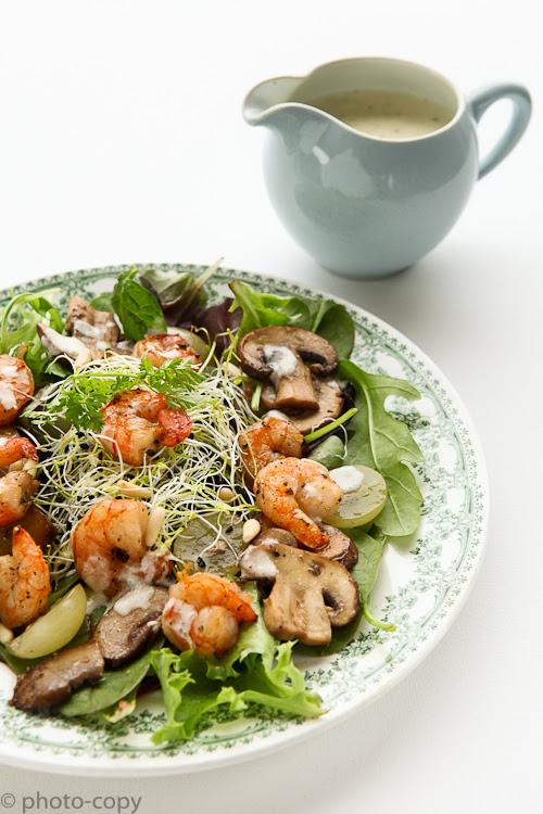 scampi roquefort salad