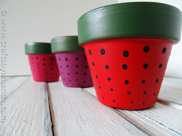 Strawberry Terra Cotta Pots