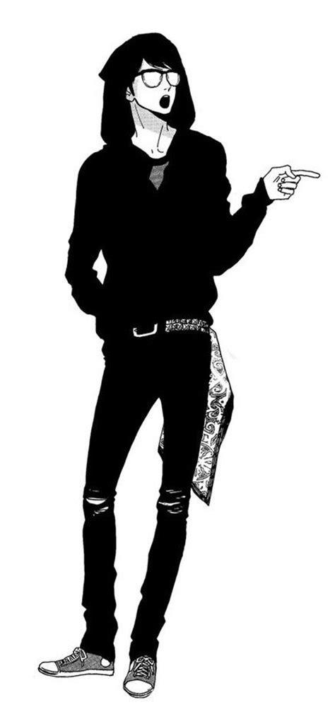 images  anime art bw guy  pinterest cute