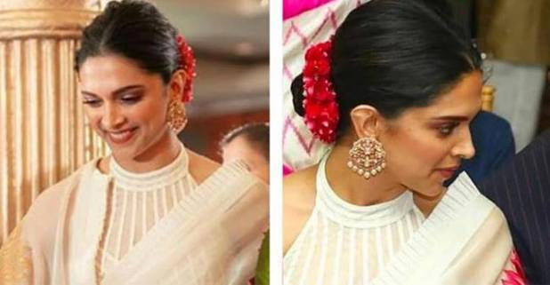 Do you know the cost of Deepika padukone's white Rohit Bal Sari??