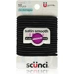 Scunci No Damage Satin Smooth Medium Hold Black Hair Elastics 18 pcs by Pharmapacks
