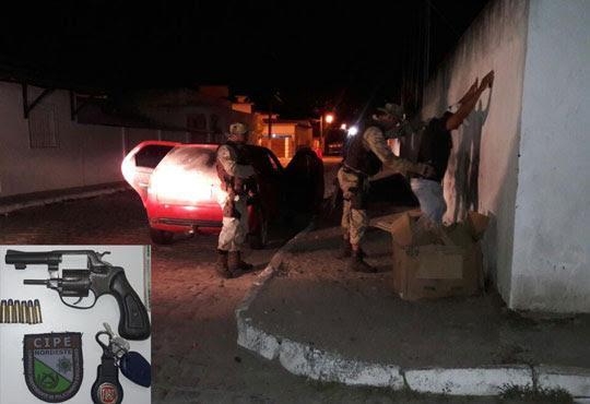 Abordagem aconteceu no centro da cidade de Retirolândia | Foto: Divulgação/ PM