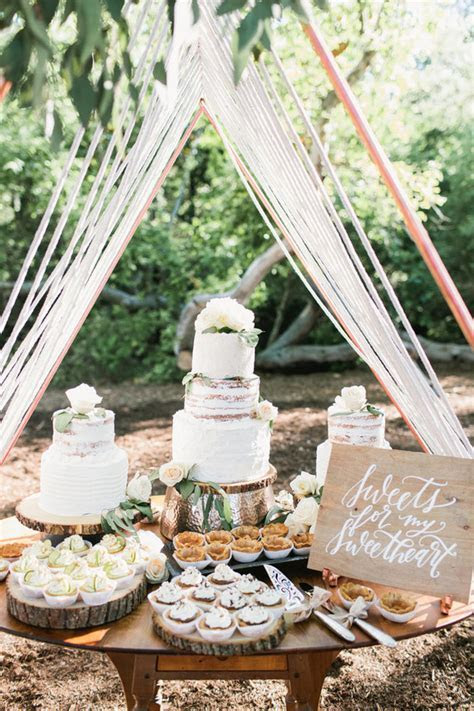 copper and rope dessert table tent   Wedding & Party Ideas
