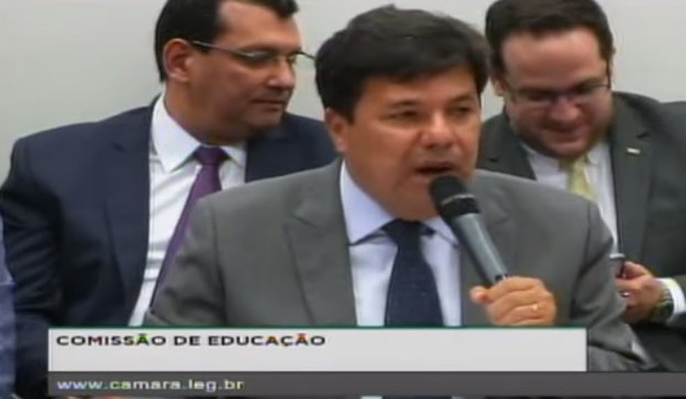 Ministro Mendonça Filho discursa durante audiência na Câmara dos Deputados nesta quarta (17) (Foto: Reprodução/TV Senado)