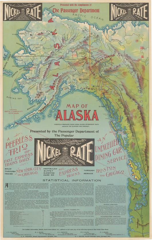 An unrecorded Klondike Gold Rush promotional map