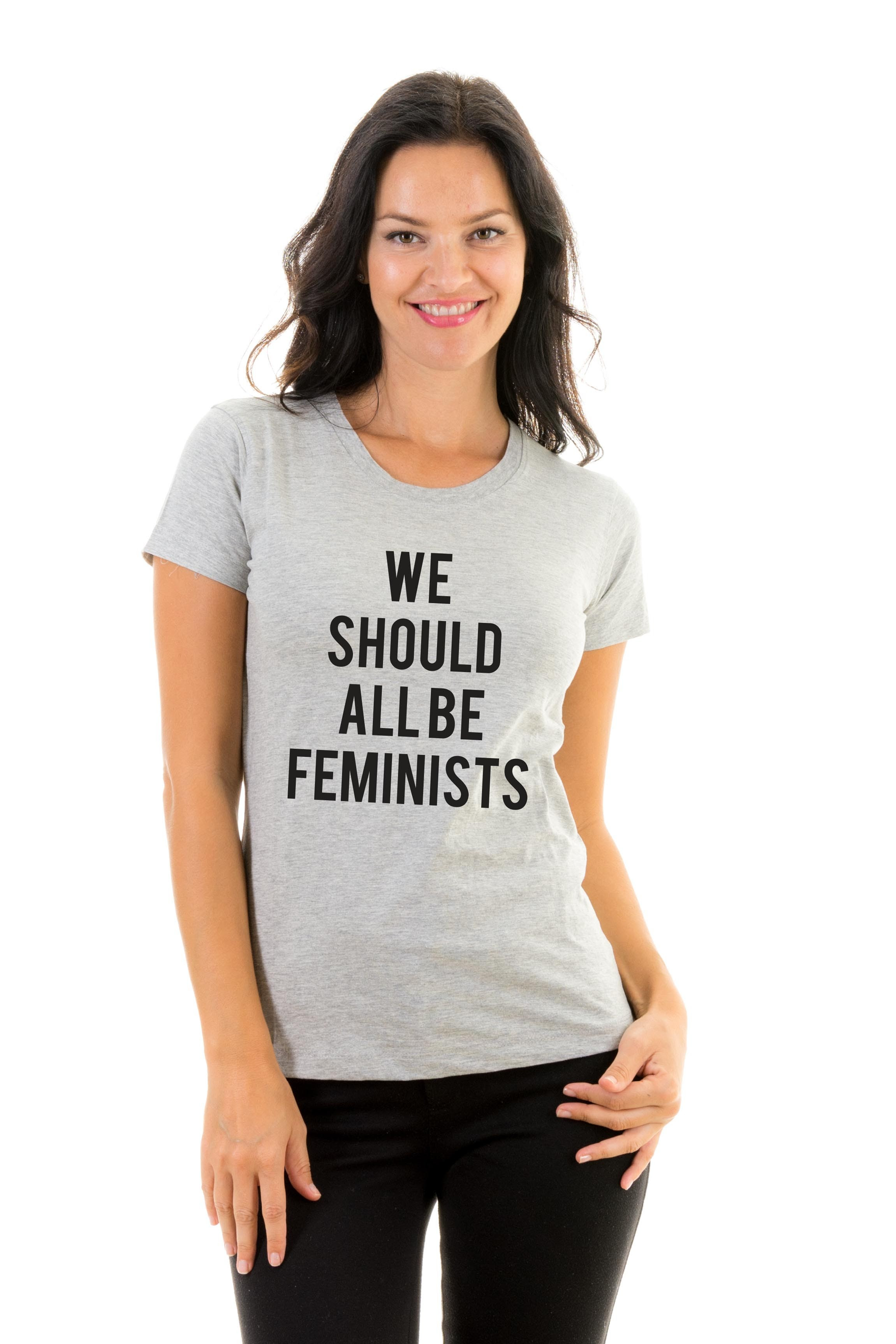 T Shirt We Should All Be Feminists Quotes Popular Themes Designs