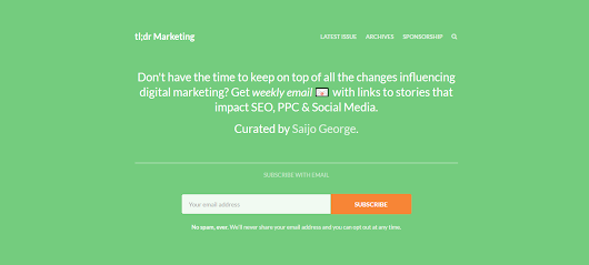 tl;dr Marketing - Weekly SEO News Roundup by Saijo George