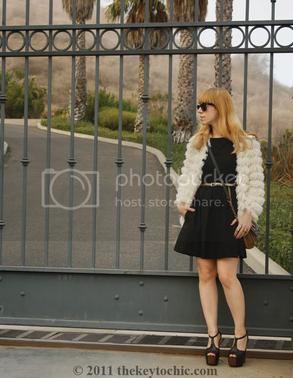 Zara LBD, Nasty Gal shag jacket, Jessica Simpson Dany heels, L.A. fashion blogger