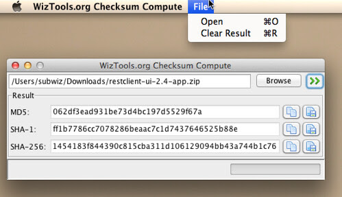 WizTools.org Checksum Compute 0.3.0