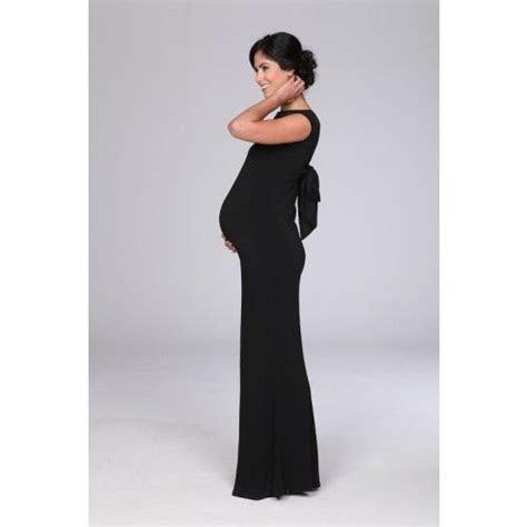 Black Cap Sleeve Evening Maxi Maternity Dress   Black Tie
