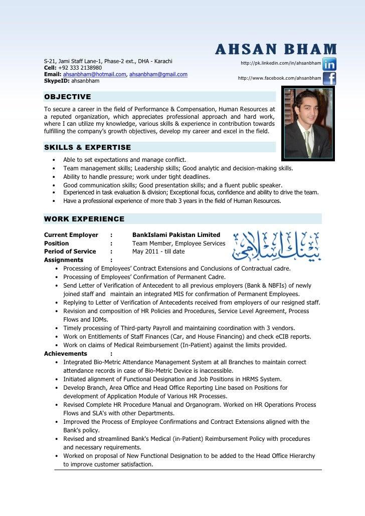 resume hr professional 1 728