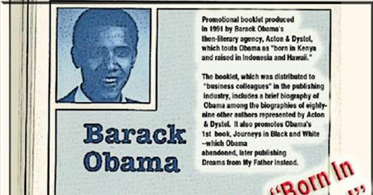 Obama's 1991 Literary Agent: He was 'Born in Kenya'