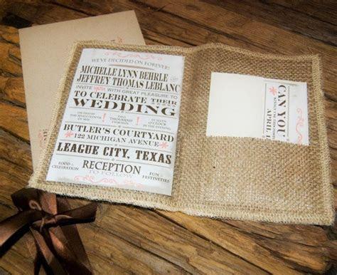 Rustic Wedding Invitation, Burlap wedding invitation. $3