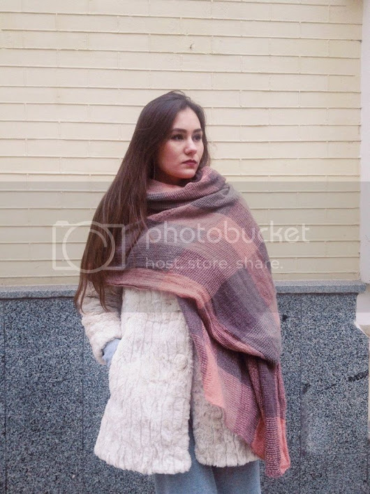 Oxana's: In warm scarf.