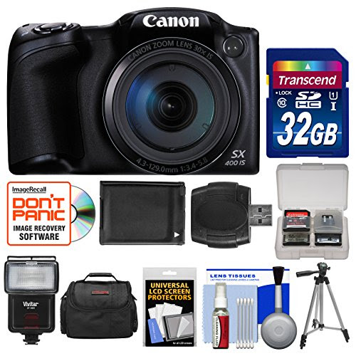 Canon Powershot Sx400 Is Digital Camera Black With 32gb Card