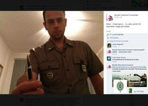 Postagem feita por ex-tenente do Exército em rede social; homem ameaça Dilma após resultado das eleições (Foto: Reprodução)