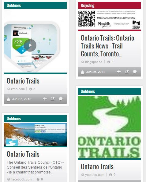 follow ontario trails on stumbleupon
