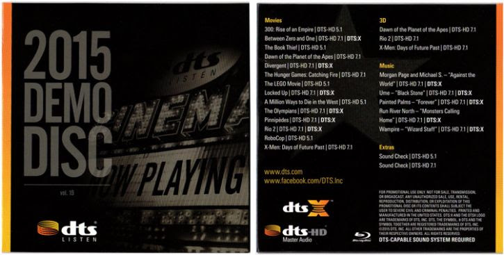 The DTS 2015 Demo Disc