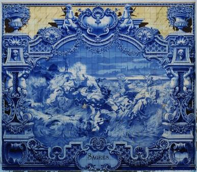 Panel of Portuguese ceramic tiles by Jorge Colaço (1922)