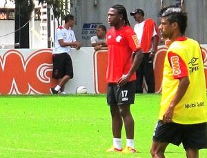 Diego Maurício no treino do Flamengo (Foto: Thales Soares / Globoesporte.com)