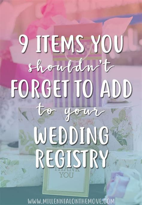 9 Items You Shouldn't Forget to Add to Your Wedding