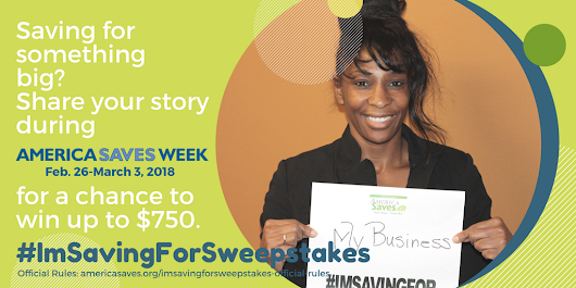Win up to $850 With the #ImSavingForSweepstakes!