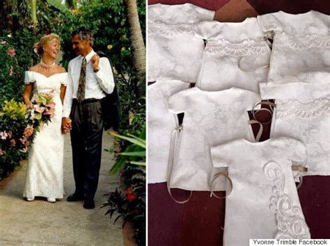 Woman Donates Wedding Dress To Be Made Into Funeral Gowns