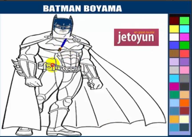 Batman Boyama Oyunu Oyna Boyama Oyunları