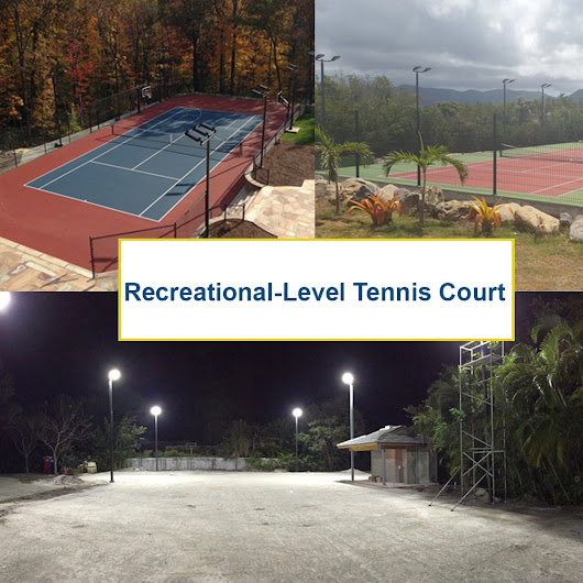 LED Tennis Court Lighting for Recreational-Level Courts