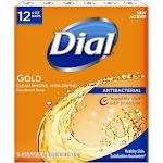 Dial Antibacterial Deodorant Gold Bar Soap - 4oz/12pk Each